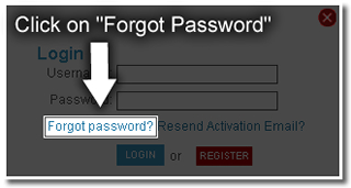 Forgot Password link on Tube8